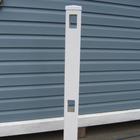 Столб заборной секции 10х10х122 см, белый.