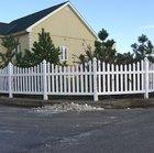 Пластиковый забор - штакетник из ПВХ профиля Кантри DP302, 113х183 см, цвет белый.