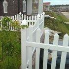 Столб заборной секции 10х10х173 см, белый.