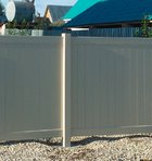 Бежевый столб заборной секции Классик DP001, 12,7х12,7х274 см